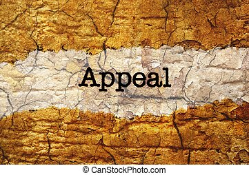Appeal grunge concept