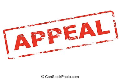 Appeal - Rubber stamp with word appeal inside, vector...