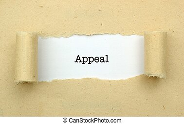 Appeal page concept