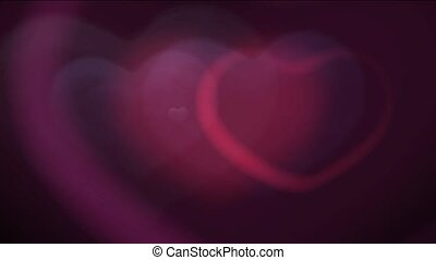 Appearance and disappearance of hearts on a black background HD