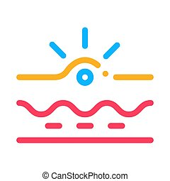 appearance of acne icon vector outline illustration