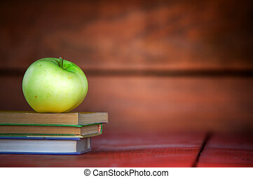 appel, op, menigte van boeekt