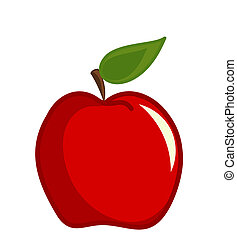 appel, rood