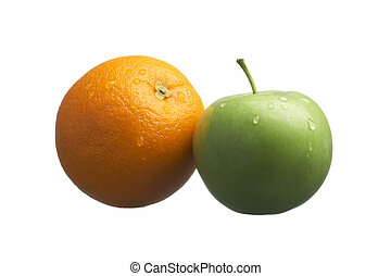appel, sinaasappel