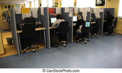 appeler, bureau, centre