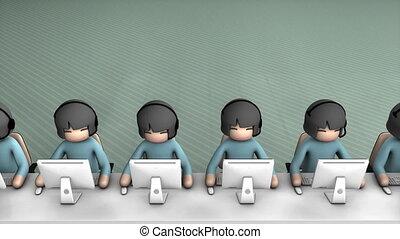 appeler, concept, animation., matte., alpha, centre