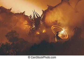 appeler, dragon