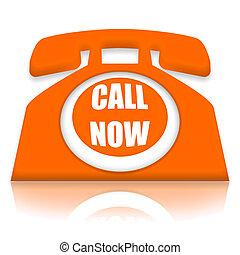 appeler, maintenant, téléphone