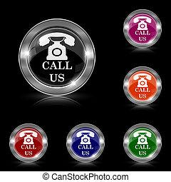 appeler, nous, icône
