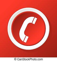 appeler, rouges, icône