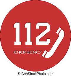 appeler, urgence, icône