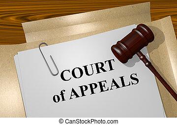 appels, concept, tribunal