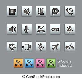 appels téléphoniques, interface, --, satinbox