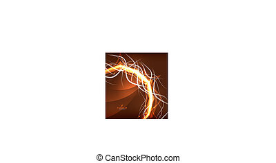 appelsin, abstrakt, lyn, baggrund., swirl, energi