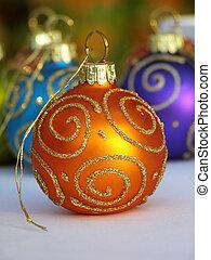 appelsin, bauble christmas