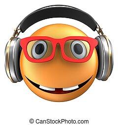 appelsin, emoticon, 3, smile