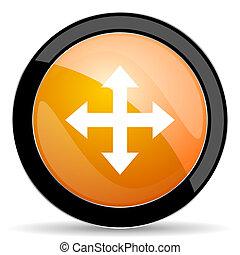 appelsin, ikon, pil