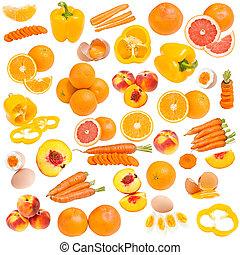 appelsin, mad, samling
