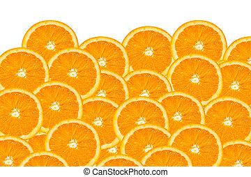 appelsin, skiver