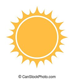appelsin sol, ikon