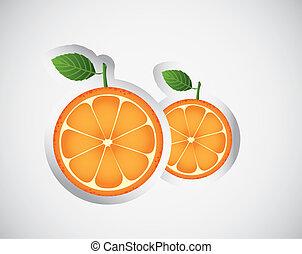 appelsin, stickers