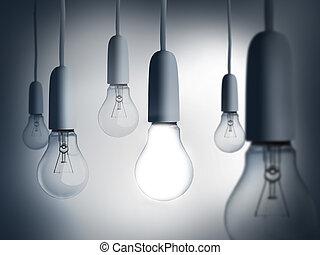 appendere, lampadine