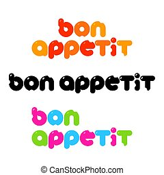 appetit, bon, テンプレート