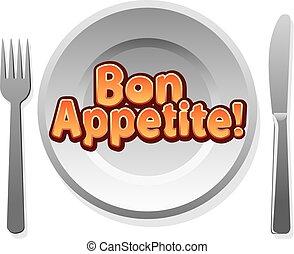 appetit, bon, icône