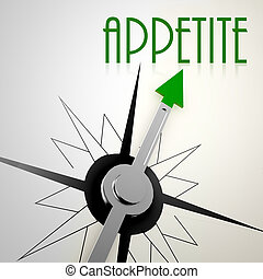 Appetite on green compass