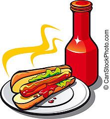 appetitoso, ketchup, hotdog