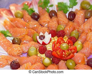 Appetizer - Beatifully arranged appetizer platter