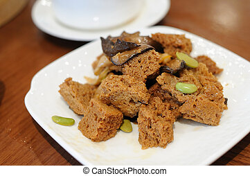 Appetizer Cow-Fu (Wheat gluten) - Chinese dishes appetizer...