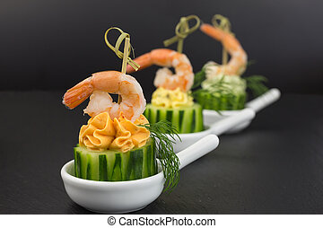 appetizer cream cheese with shrimp