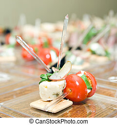 appetizer from tomato and cheese