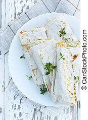 appetizer in pita bread