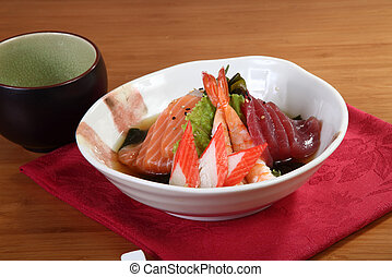 appetizer of raw fish