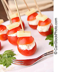appetizer, tomato and cheese