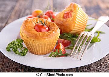 appetizer, tomato muffin