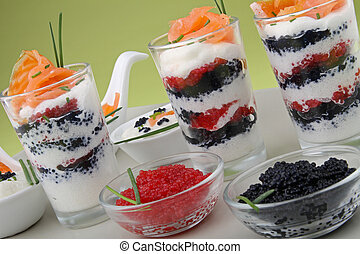 verrine - appetizer, verrine of salmon