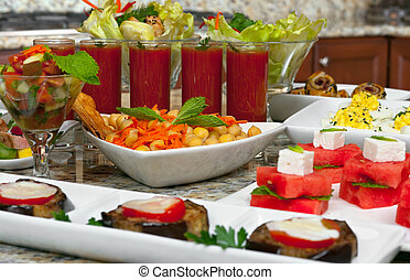 Appetizers - Mediterranean food, different appetizers