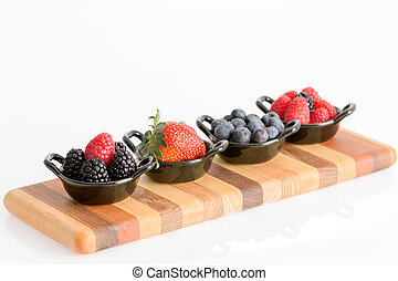 Appetizers of tasty fresh autumn berries