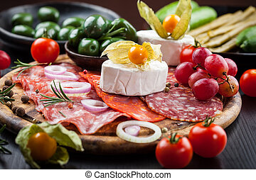 Appetizers platter - Antipasto and catering platter with...