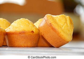 Appetizing bakery - golden fresh appetizing bakery closeup...
