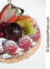 Appetizing fruit tart - Close up of an appetizing fruit cake