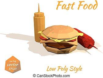 Appetizing hamburger