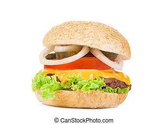Appetizing hamburger.