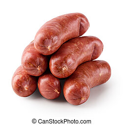 Appetizing raw sausages