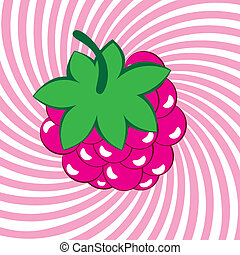 Appetizing ripe raspberries