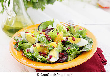 appetizing salad with haulms