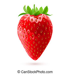Appetizing strawberry - Delicious fresh strawberry isolated...